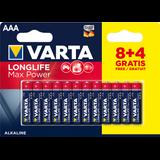 Obrázok produktu Varta Longlife Max Power AAA 8+4 (Double blister)